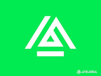 Smart Logo Design For The Workshop (Atelierul) monogram corporate brand identity app icon minimal modern smart atelierul identity logo design brand logo garage the workshop workshop house home