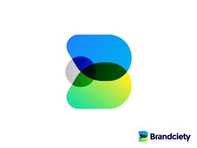 Branding Agency Logo Design Concept | B + Rocket