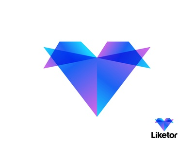 Heart / Like + Arrow | Social Media Logo Concept | App Icon