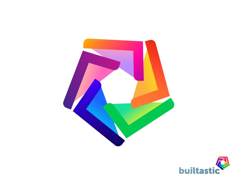App Software Brand Colorful Logo Design Concept By Adrian