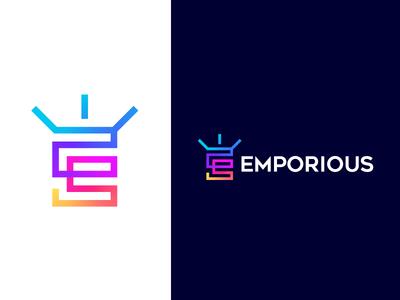 Colorful E Letter Logo Concept / Monogram / Brand Identity