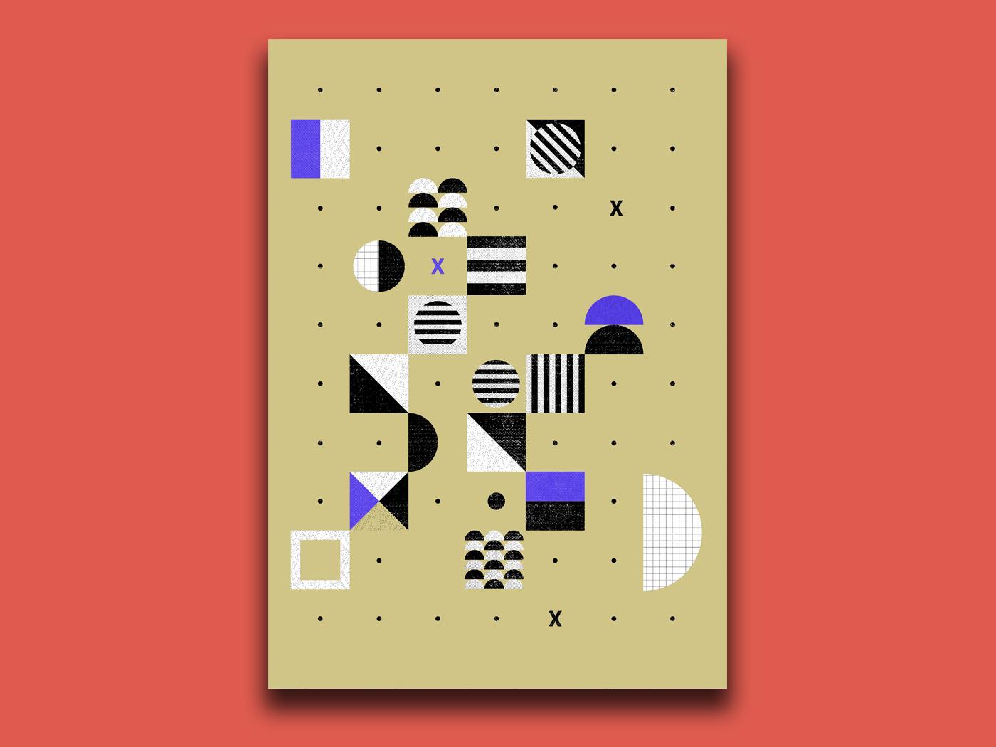 Poster serie abstact illustration poster graphicdesign design branding