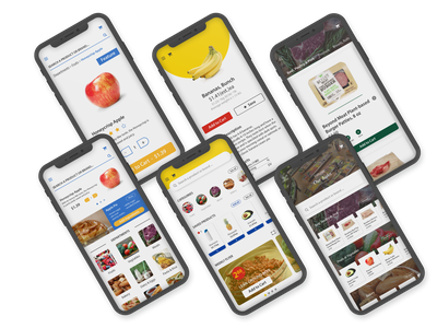 Mobile Grocery Apps media whole foods nofrills walmart grocery app groceries grocery branding app adobe illustrator ux ui illustrator design