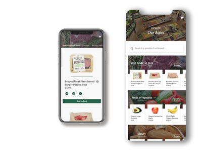 Mobile Grocery Store | Whole Foods Inspired grocery app grocery groceries branding app adobe illustrator ux ui illustrator design
