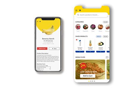 Mobile Grocery App | NoFrills Inspired nofrills vector app grocery app branding adobe illustrator ux ui illustrator design