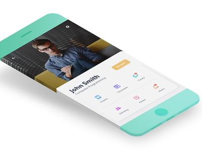 Student Success Application | Prototype prototype adobexd xd design ai mobile college school student vector adobe illustrator ux ui design