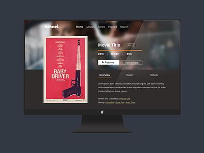 Kernel | Movie Streaming Service designer mockup driver baby service movies streaming desktop branding adobe illustrator ux ui design