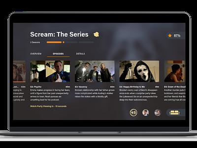 Video Streaming Service - Kernel design ux illustrator adobe illustrator ui streaming