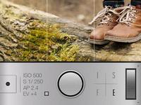 Manual Camera App UI