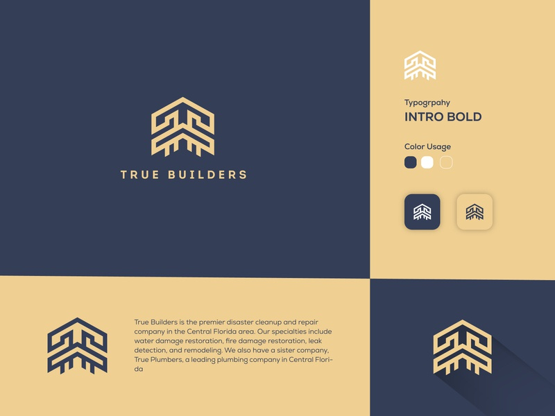 True Builder : Real Estate Logo realestate real estate logo true builders true builders building logo design concept true builder logo designer icons design logo gradiant logos logo color graphic design branding logodesign