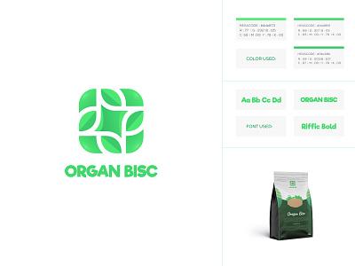 Organ Bisc coffee icon typography packaging nature green organic logo icons creative design logo gradiant logo designer logo color graphic design logodesign branding