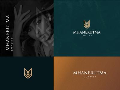 Mhane Rutma : Luxury Logo Design luxury brand brand mark logo mark elegant luxurious luxury logo vector creative design logos gradiant logo designer logo color graphic design logodesign branding