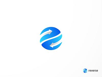 reverse ui modern logo arrow logo typography mark monogram brand identity reverse  logo reverse contrast creative design logos logo designer logo color gradiant graphic design logodesign branding