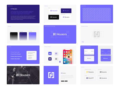 Housors Brand Identity logo illustration design logos logo designer logo color gradiant graphic design logodesign branding