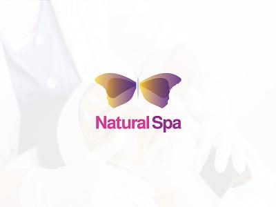 Natural Spa logo illustration design logos logo designer logo color gradiant graphic design logodesign branding
