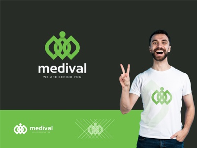 Medival Brand Mark health logo medical logo design logos logo designer logo color gradiant graphic design logodesign branding