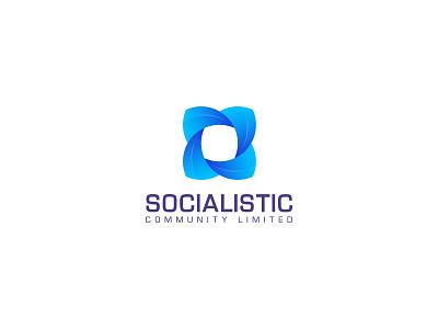 Socialistic Abstract Mark logo concept designer logo 3d graphic art ui vector illustration design logo logos logo designer logo color gradiant logodesign graphic design logoinspire branding logoconcept