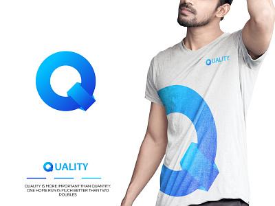 Quality Brand Mark manual brand identity q logo design q logo letter q quality logo quality t-shirt brand design logo illustration design logos logo designer logo color gradiant graphic design logodesign branding