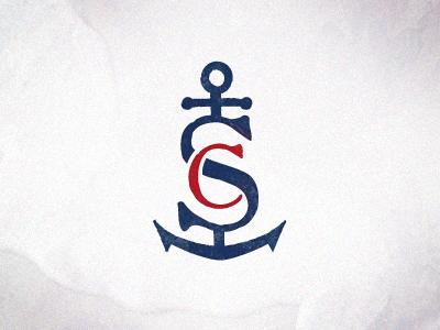 Sircus Icon icon identity logo anchor nautical vintage distressed