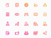 Videogames Icon Set