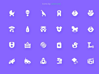 Baby and Toys Icons glyph flat chlid toys baby illustration vector icons set icon set icons iconography icon designs icon design icon
