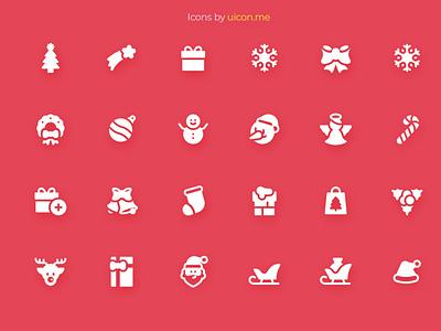 Christmas Icon Set celebration holidays christmas flat vector illustration icons set icon set icons iconography icon designs icon design icon