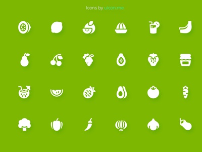 Fruits & Vegetables Icon Set food vegetables fruits vegetable fruit design vector illustration ui icons set icon set icons iconography icon designs icon design icon