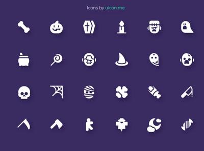Hallowen Icon Set halloween flat design flat illustration vector ui icons set icon set icons iconography icon designs icon design icon