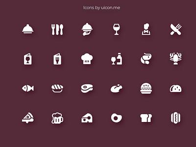Restaurant Icon Set food restaurant flat design illustration vector ui icons set icon set icons iconography icon designs icon design icon