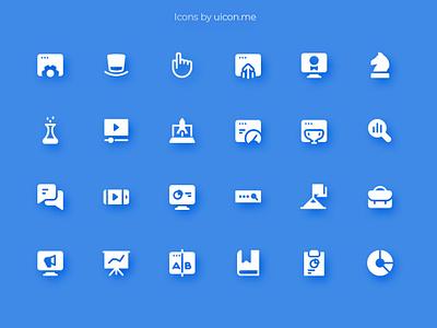 SEO & Marketing Icon Set marketing seo ux flat design ui icons set icon set icons iconography icon designs icon design icon