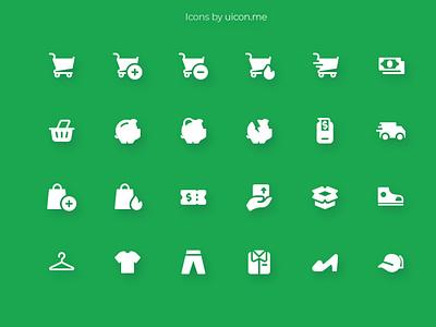 Shopping & Ecommerce Icon Set app store app purchase buy online store online ecommerce shopping flat design illustration vector ui icons set icon set icons iconography icon designs icon design icon