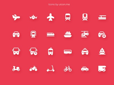 Vehicles Icon Set car vehicles transport app design illustration vector ui icons set icon set icons iconography icon designs icon design icon