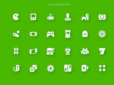 Videogames Icon Set entertainment slots casino games videogames video design flat illustration vector ui icons set icon set icons iconography icon designs icon design icon