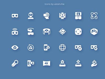 Virtual Reality Icon Set virtualreality virtual reality ar vr app flat ui icons set icon set icons iconography icon designs icon design icon