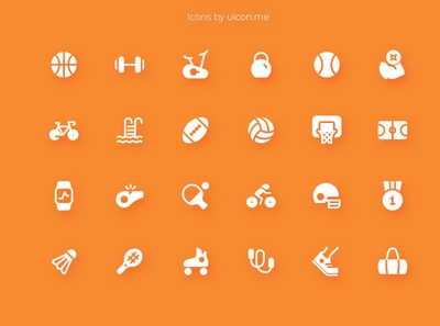 Sports & Fitness Icon Set fitness sport app vector flat ui icons set icon set icons iconography icon designs icon design icon
