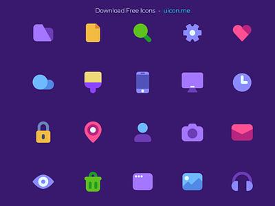 Freebie - Flat Mate Basic - Free icon Set free freebies free icon set free vector icons free icons freebie minimal modern colorful app flat ui vector icons set icon set icons iconography icon designs icon design icon
