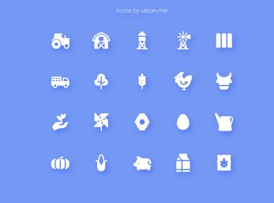 Farm Icon Set farm flat vector icons set icon set icons iconography icon designs icon design icon