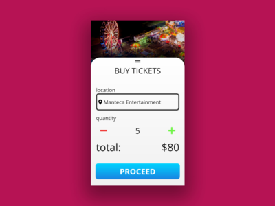 Simple mobile purchase UI