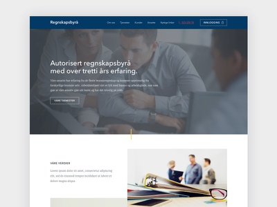 Accounting firm website accounting norway wip design web design