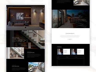 Design mockup for a real estate company mockup design real estate