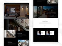 Design mockup for a real estate company