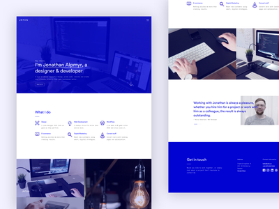 Portfolio — launch time! responsive design ui launch monochrome minimal blue portfolio