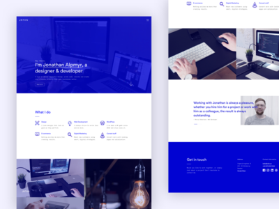Portfolio — launch time! responsive design ui launch monochrome minimal blue portfolio