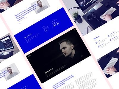 Portfolio — About me ui responsive portfolio monochrome minimal launch design about me about blue