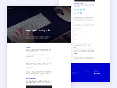 Portfolio — Article ui responsive portfolio monochrome minimal launch design blue post article blog