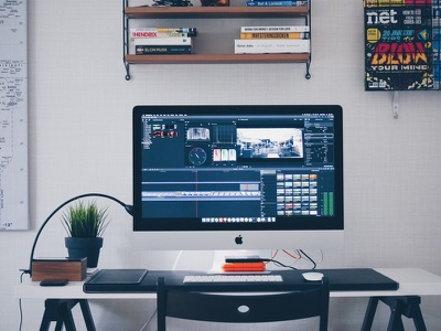Summer holiday film project movie mac imac edit editing office home office film