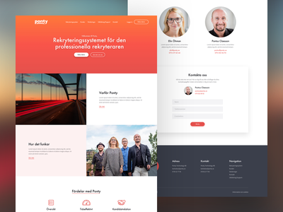 Redesign for a recruiting software company black red orange recruit recruiting cta icons landing page homepage mockup software recruitment