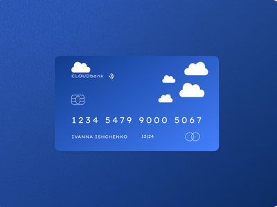 Debit credit card concept branding minimal vector design
