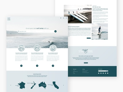 Surf Camp website design