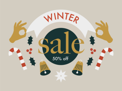 Illustration for the winter sale